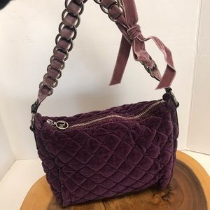 Marc Jacobs Plum Purple Quilted Velvet Handbag
